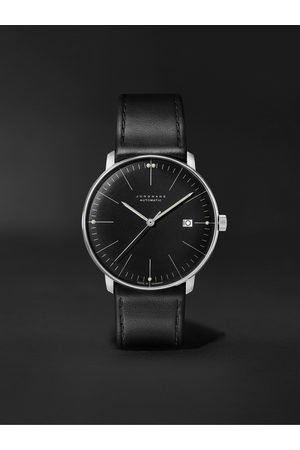 Junghans Men Watches - Max Bill Automatic 38mm Stainless Steel and Leather Watch, Ref. No. 027/4701.02