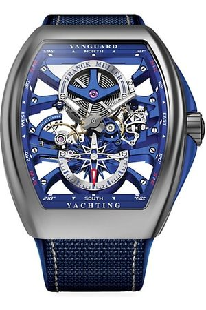 Franck Muller Vanguard Yachting Skeleton Stainless Steel, Alligator & Rubber Strap Watch