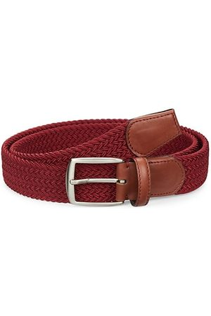 Saks Fifth Avenue COLLECTION Woven Leather & Cotton Belt