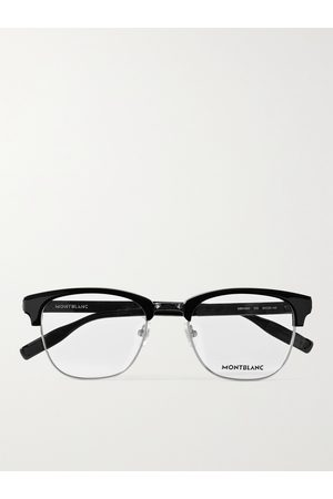Mont Blanc Men Sunglasses - D-Frame Acetate and Silver-Tone Optical Glasses