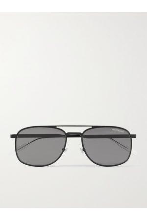 Mont Blanc Men Sunglasses - Aviator-Style Metal Sunglasses