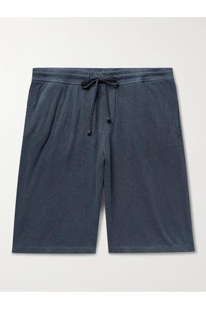 James Perse Mélange Loopback Cotton-Jersey Drawstring Shorts