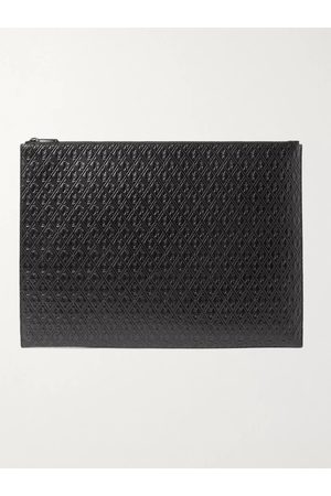 Saint Laurent Men Wallets - Logo-Debossed Leather Pouch