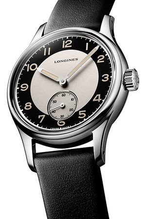 Longines Men Watches - Heritage Automatic Stainless Steel Leather-Strap Watch