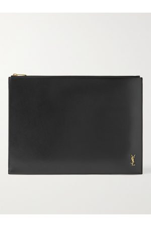 SAINT LAURENT Logo-Appliquéd Leather Document Holder