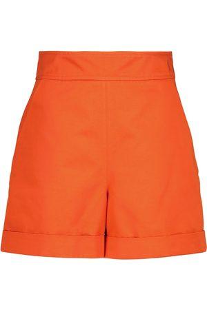 Marni Women Shorts - High-rise cotton and linen shorts