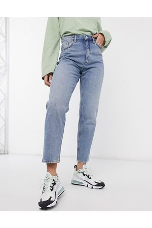 Monki Women Boyfriend - Taiki organic cotton high waist mom jeans in light