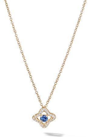 David Yurman 18kt yellow Venetian Quatrefoil tanzanite and diamond necklace