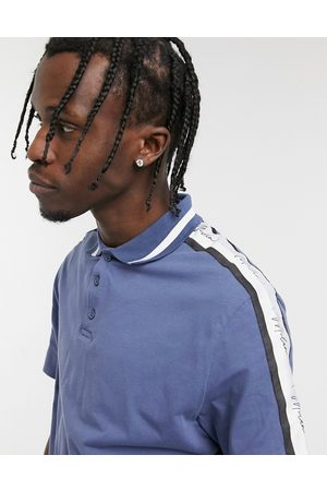 ASOS Skinny polo shirt in with sleeve taping