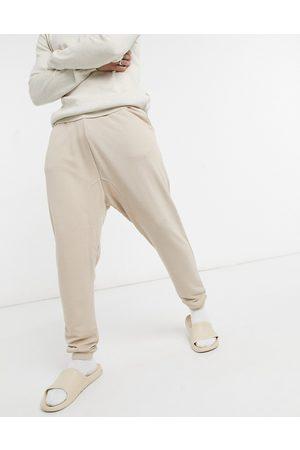 ASOS Men Joggers - Super soft viscose drop crotch joggers in -Neutral