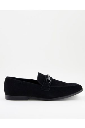 ASOS Loafers in faux suede with snaffle detail