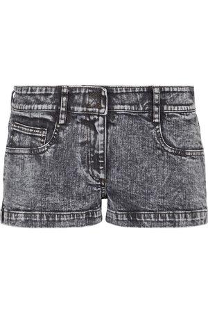 Norma Kamali Low-rise denim shorts