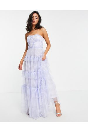 Needle & Thread Women Maxi Dresses - Caroline maxi dress with ruffles in gingham