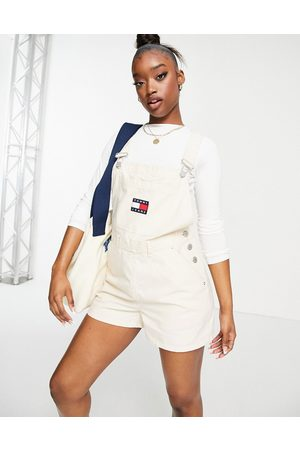 Tommy Hilfiger Logo dungaree shorts in