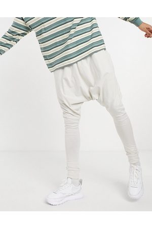 ASOS Lightweight extreme drop crotch joggers in pale