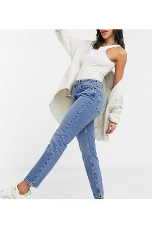 Reclaimed Vintage Women Straight - The 90s straight leg jean in mid stone wash