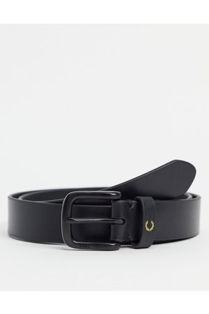 Fred Perry Leather logo belt in