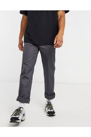 Dickies 873 slim straight fit work trousers in charcoal