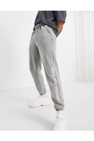Good For Nothing Joggers in washed with logo placement print