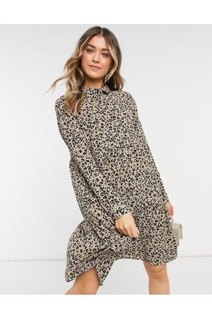 JDY Shirt dress in animal print-Multi