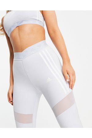 adidas Women Leggings - Adidas Training 3 stripe leggings in baby