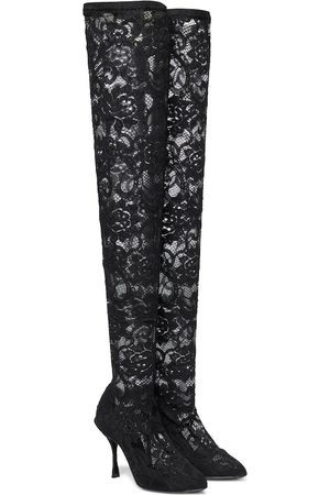 Dolce & Gabbana Women Knee High Boots - Lace over-the-knee boots