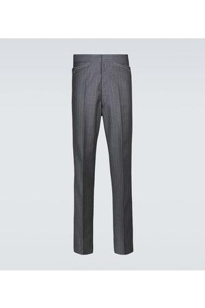 Maison Margiela Pinstriped wool-blend pants