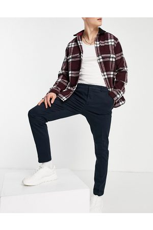 New Look Men Chinos - Skinny chino trousers in navy
