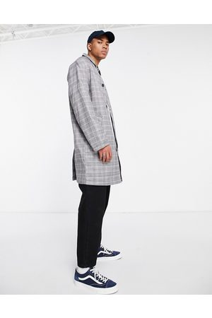 ASOS Single breasted trench coat in check