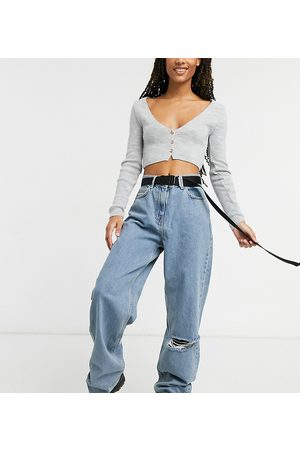 COLLUSION X014 90s baggy extreme dad jeans in vintage wash