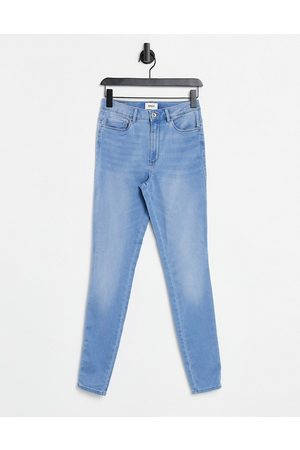 ONLY Royal skinny jeans with high waist in light wash