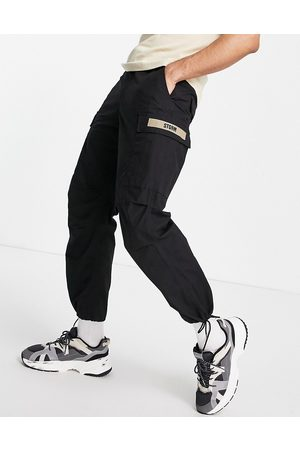 FINGERCROXX Cargo trousers with tape detail in