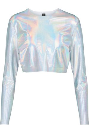 Norma Kamali Women Crop Tops - Holographic crop top