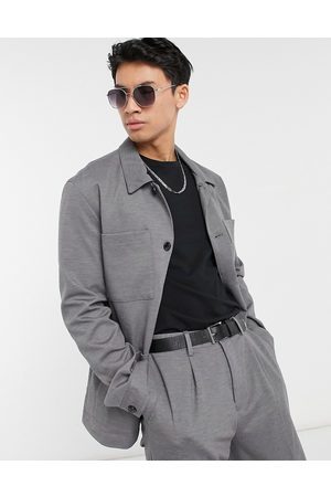 SELECTED Men Jackets - Jersey boxy suit jacket slim fit in