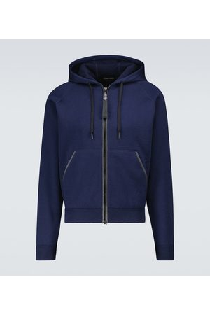 Tom Ford Men Sweatshirts - Double-faced hooded sweatshirt