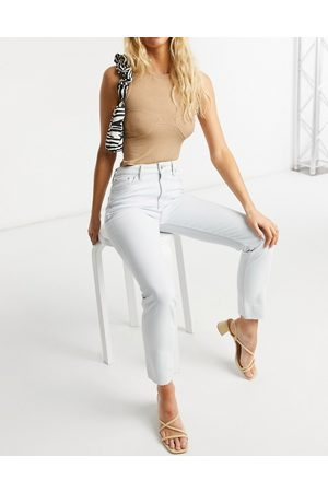 ASOS Mid rise vintage 'skinny' jeans in antique white
