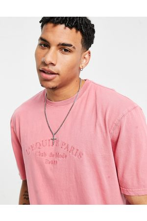 River Island T-shirt with slogan in washed