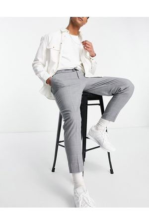 ASOS Tapered pleat smart jogger in cross hatch