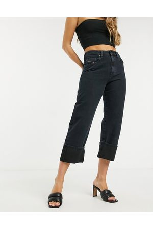 Diesel Straight leg jeans with turn up hem in indigo