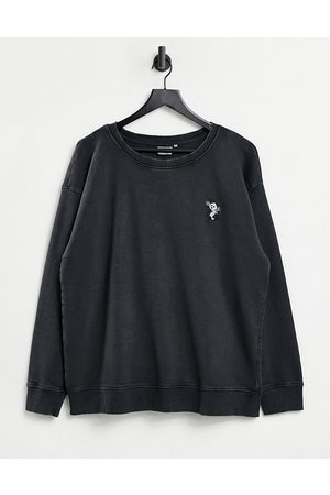 ONLY Sweater with embroidered panda in washed