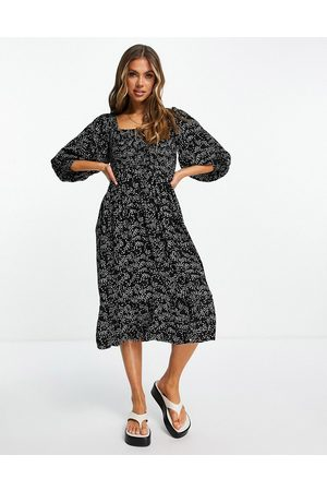 Iisla & Bird Exclusive midi beach dress in polka dot-Multi