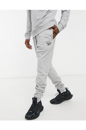 Reebok Classics joggers in heather with small logo