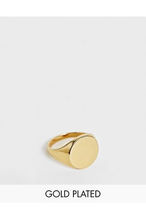 ASOS Signet ring with 14k plate