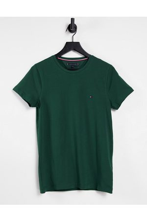 Tommy Hilfiger Icon logo stretch slim fit t-shirt in pine grove