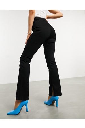 ASOS High rise 'Y2K' stretch flare jeans in