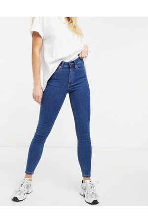 ASOS Women Skinny - High rise ridley 'skinny' jeans in midwash