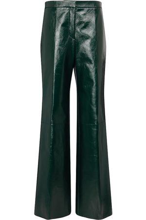 Jil Sander High-rise leather wide-leg pants