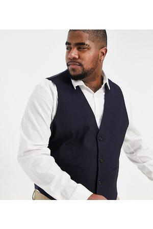 ASOS Men Waistcoats - Plus skinny suit waistcoat in navy