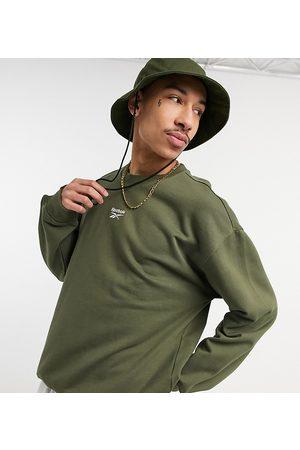Reebok Classics sweatshirt with central logo in khaki exclusive to ASOS