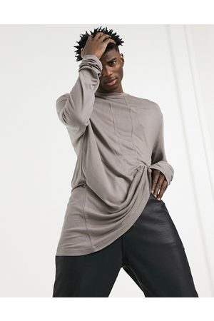 ASOS Long sleeve viscose t-shirt with seam detailing in
